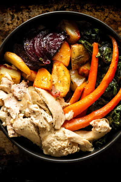 Roasted Roots and Chicken Power Bowl with Maple Dipping Aioli   Kita Roberts GirlCarnivore.com