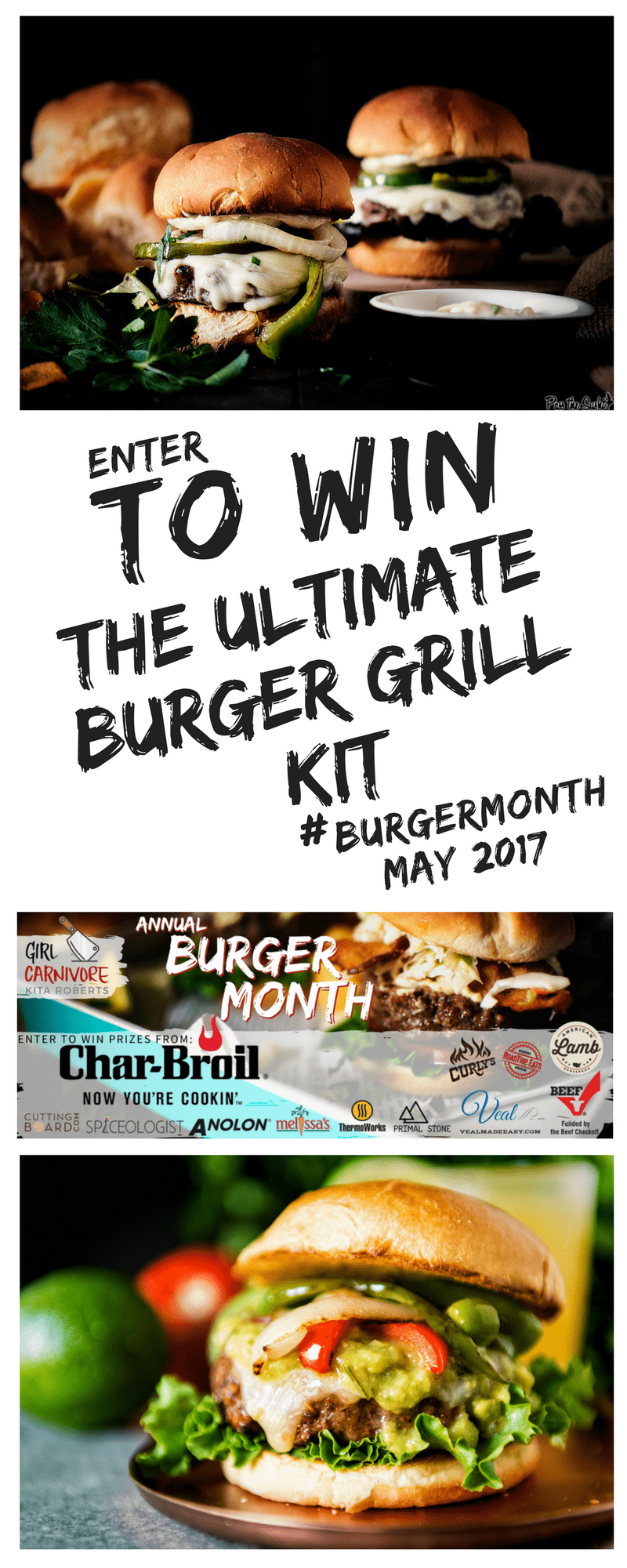 Enter to Win Girl Carnivore's Annual Burger Month Grilling Sweepstakes - with over $800 in epic burger grilling gear