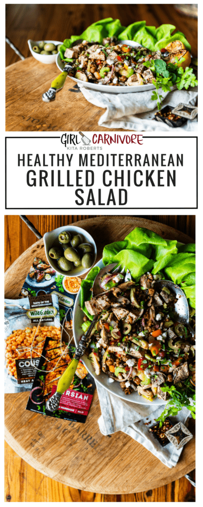 Mediterranean Grilled Chicken Salad Recipe GirlCarnivore.com