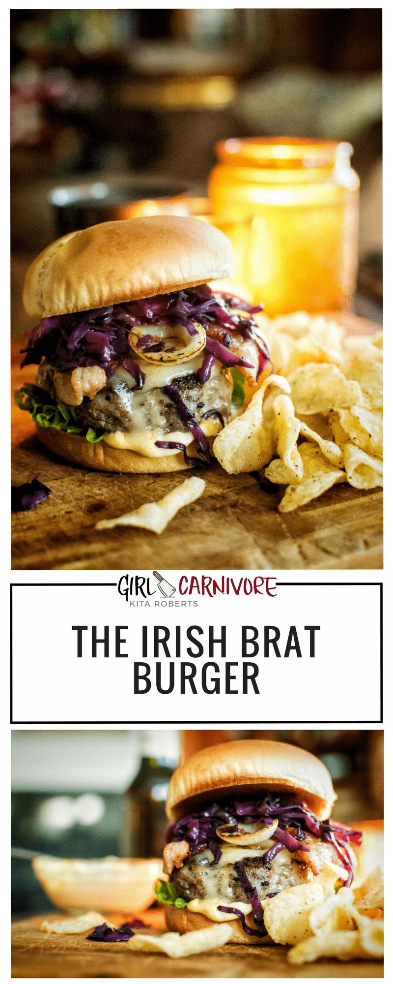 The Irish Brat Burger Recipe | Girlcarnivore