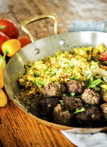 Cumin Spiced Lamb Meatballs with Chimichurri Drizzle | Kita Roberts GirlCarnivore.com