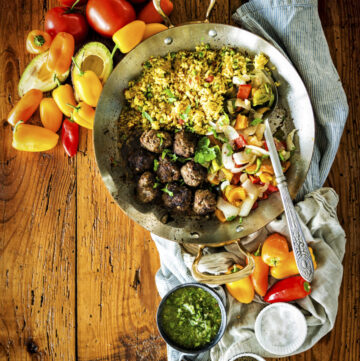Cumin Spiced Lamb Meatballs with Chimichurri Drizzle | Kita Roberts GirlCarnivore.com