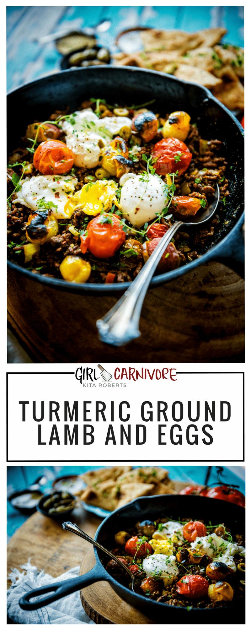 Tumeric Ground Lamb and Eggs Recipe GirlCarnivore