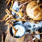 Fried Pork Chop Sandwich with Rosemary Truffle Aioli | Kita Roberts GirlCarnivore.com