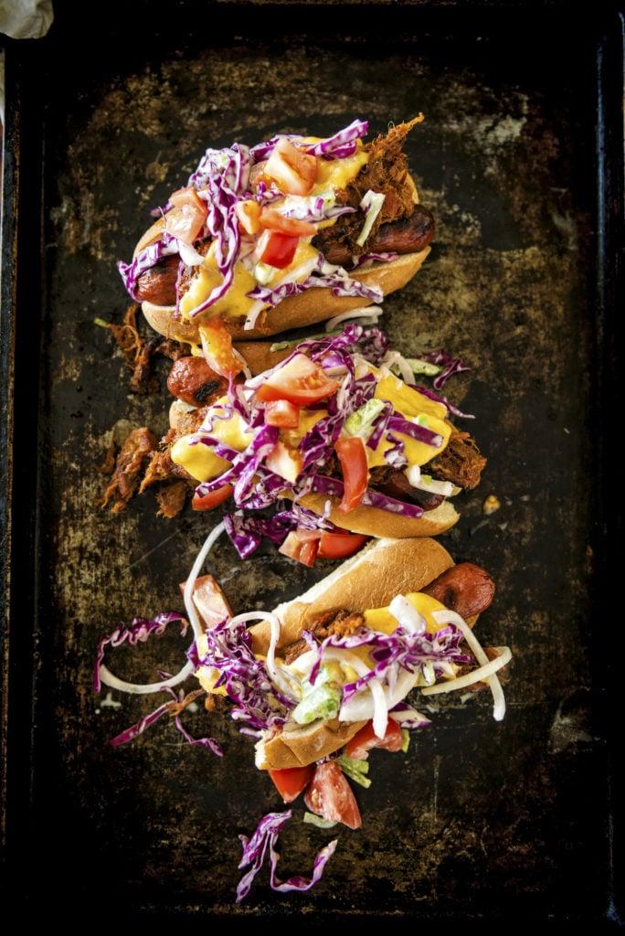 IPA Pulled Pork Cheese Dogs Recipe | Kita Roberts GirlCarnivore.com