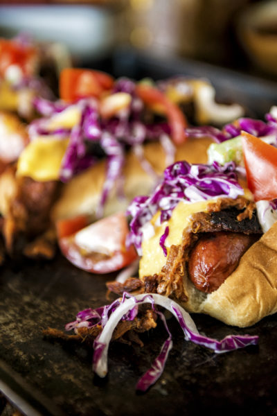 IPA Pulled Pork Cheese Dogs Recipe | Kita Roberts GirlCarnivore.com