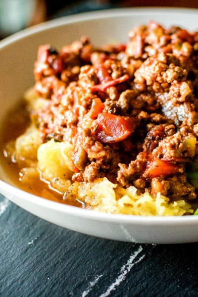 Paleo Slow Cooker Bolognese Sauce | Kita Roberts GirlCarnivore.com