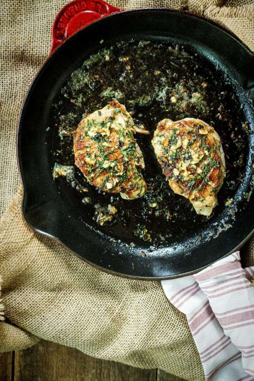 Quick Thick-Cut Pan Seared Pork Chops | Kita Roberts GirlCarnivore.com