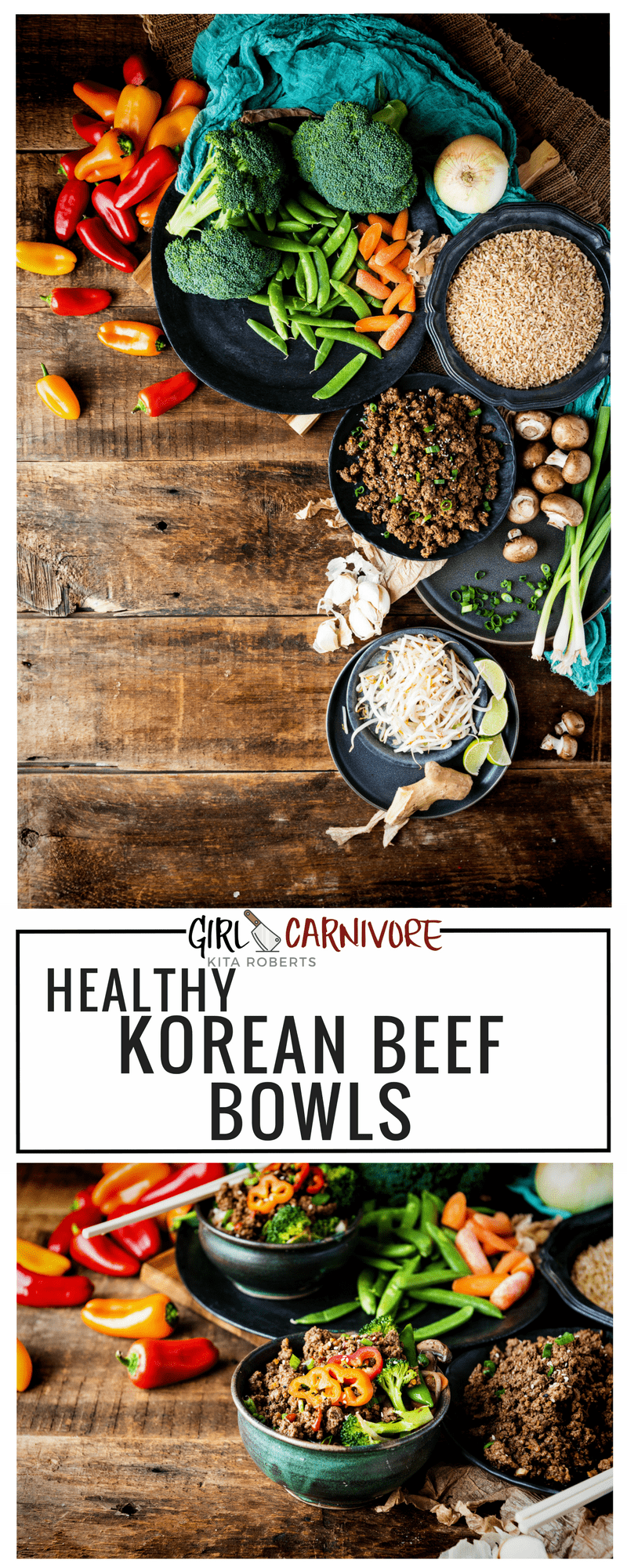 Healthy and Whole 30 Approved Korean Beef Bowls | Kita Roberts | GirlCarnivore.com
