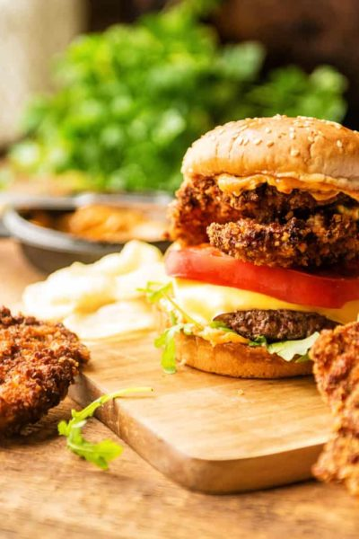 Panko Fried Oyster Bayou Burger Recipe