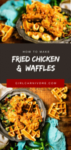 How to make crazy good chicken and savory cornbread waffles