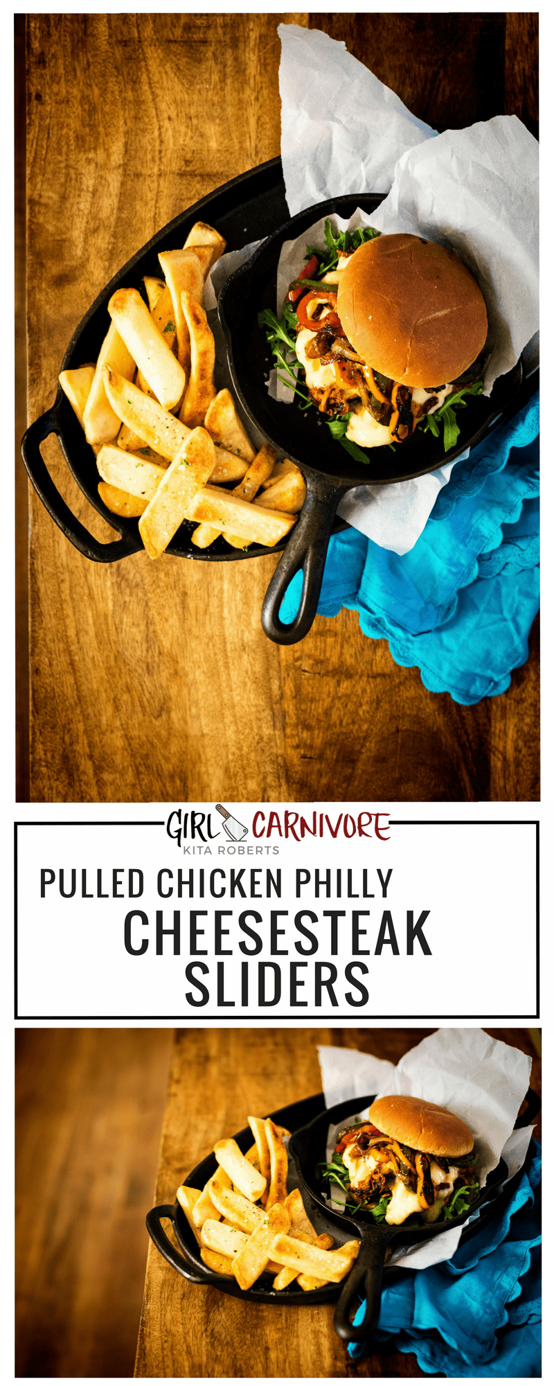 Philly Chicken Cheesesteak Sliders Recipe | Kita Roberts GirlCarnivore
