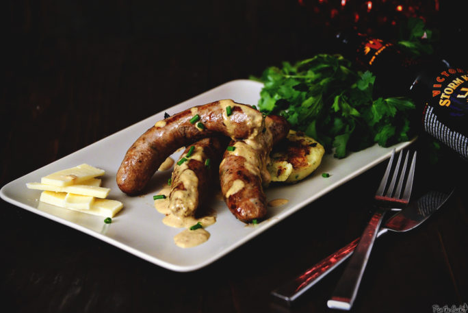 Irish Sausage Plate with Stout Mustard Cream | Kita Roberts GirlCarnivore.com