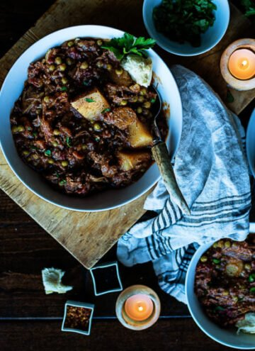 Slow Cooker Smoky Irish Lamb Stew | Kita Roberts GirlCarnivore.com