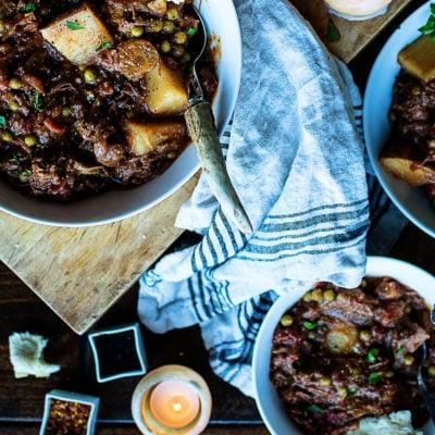 Slow Cooker Smoky Irish Lamb Stew | Kita Roberts GirlCarnivore.com