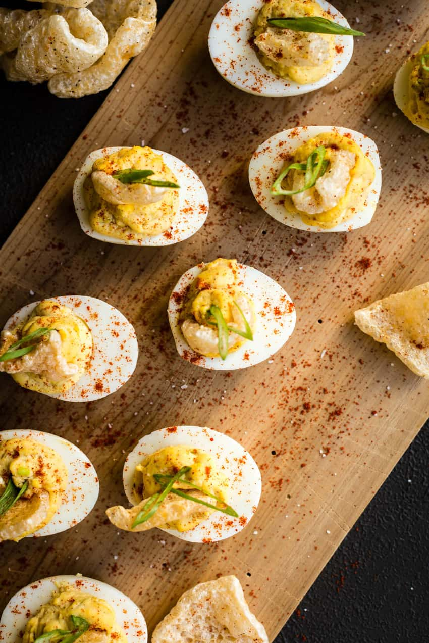 Deviled Eggs with Chicharrones Recipe GirlCarnivore Kita Roberts