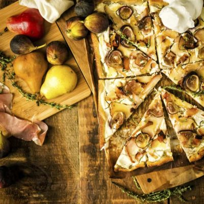 Savory Grilled Pizza with Fig and Pears