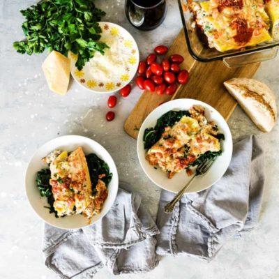 Veal Manicotti Florentine Recipe - GirlCarnivore.com