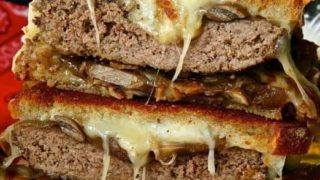 Red Wine Espresso Patty Melt Burger #BurgerMonth