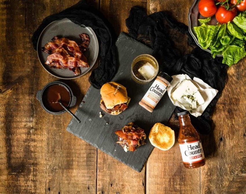 Bourbon and Blue Burger Recipe | GirlCarnivore.com