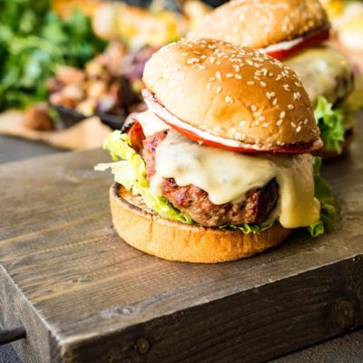 Veal Saltimbocca Burger with Sage Aioli