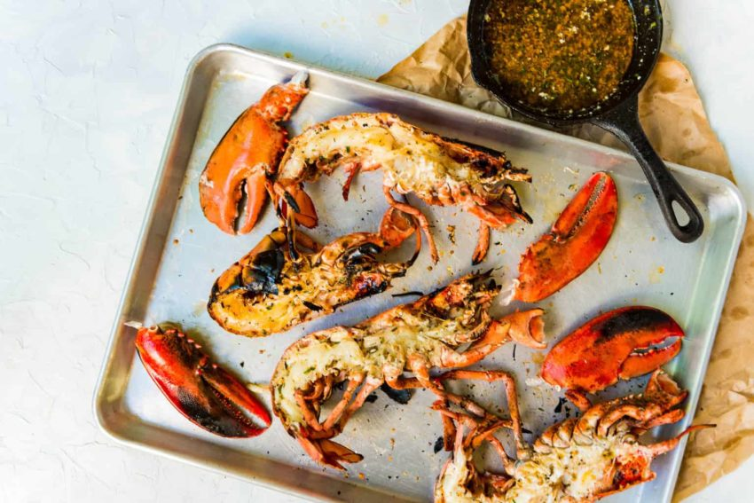 Char Grilled Lobster With Zesty Butter Sauce Girl Carnivore