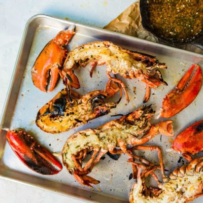 Char-Grilled Lobster with Zesty Butter Sauce
