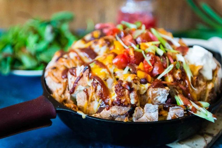 Tailgating Pull Apart BBQ Chicken Bread | Kita Roberts GirlCarnivore.com