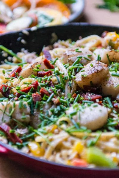 Summer Scallop and Crab Pasta