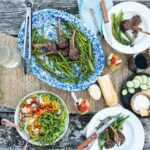 Char Grilled Lamb Chops with Ramp Butter Recipe - GirlCarnivore