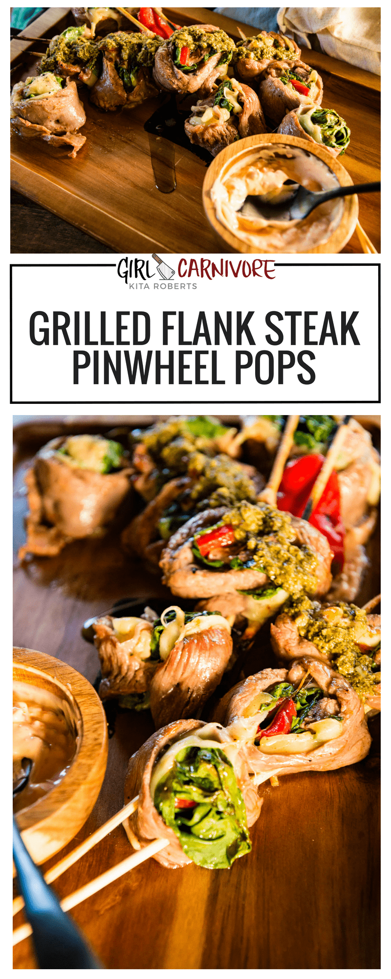 Grilled Flank Steak Pinwheels Recipe - GirlCarnivore Kita Roberts -9973