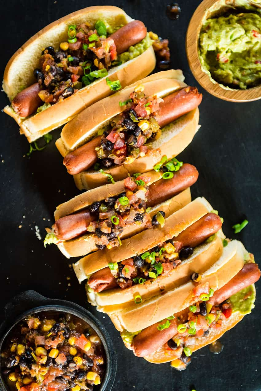 Pineapple Salsa and Guacamole Hot Dogs Recipe - GirlCarnivore-0034