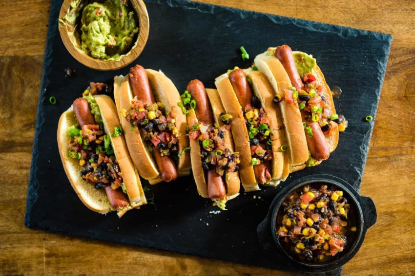 Pineapple Salsa and Guacamole Hot Dogs Recipe - GirlCarnivore