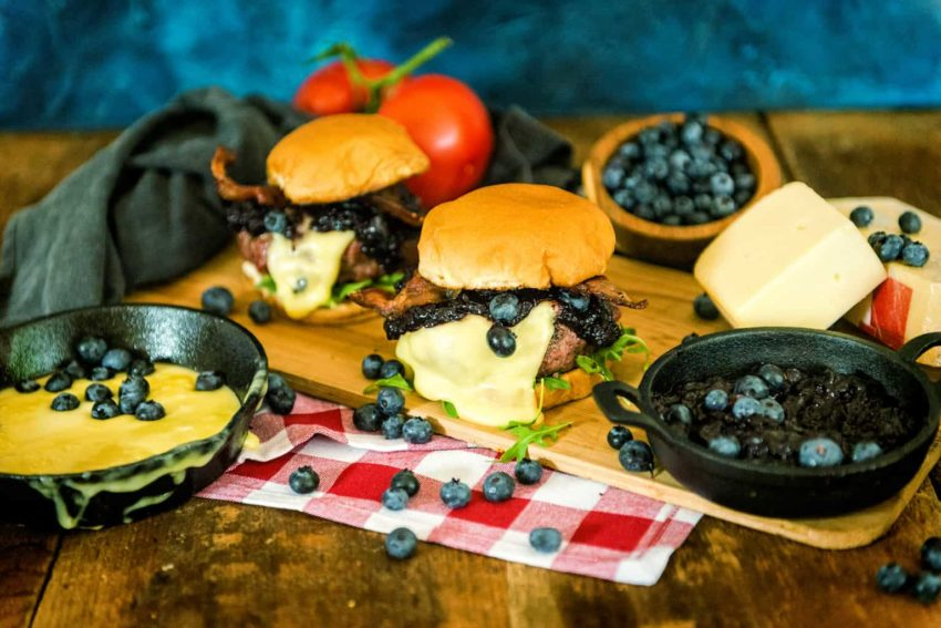 Smoked Blueberry Raclette Burgers Recipe GirlCarnivore
