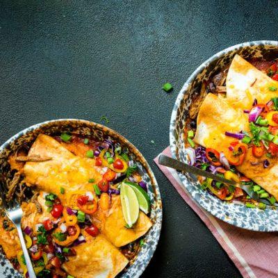 Smoked Pork Stuffed Enchiladas Recipe GirlCarnivore