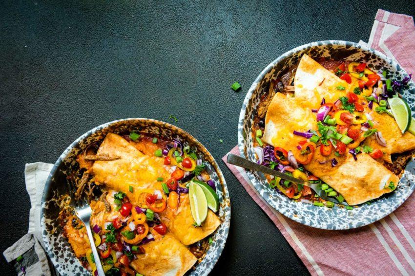 Smoked Pulled Pork Stuffed Enchiladas Recipe | Kita Roberts GirlCarnivore
