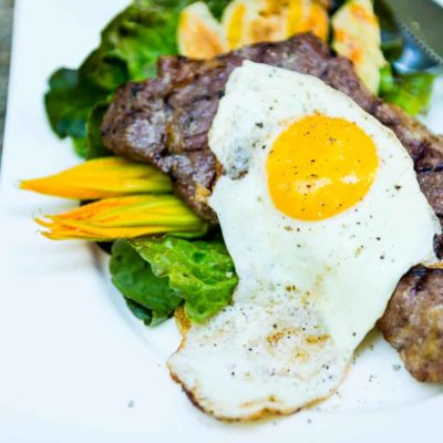 Sous-Vide Steak and Eggs