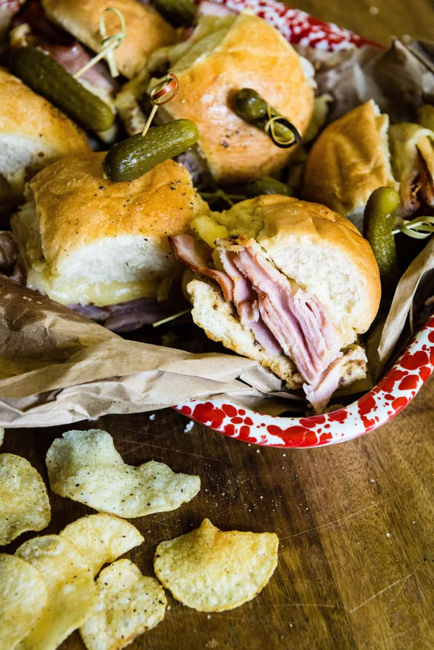 Party Time Hot Ham and Cheese Sliders | Kita Roberts GirlCarnivore.com