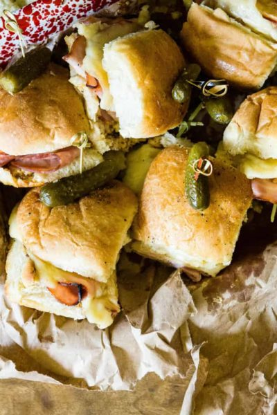 Party Time Hot Ham and Cheese Sliders