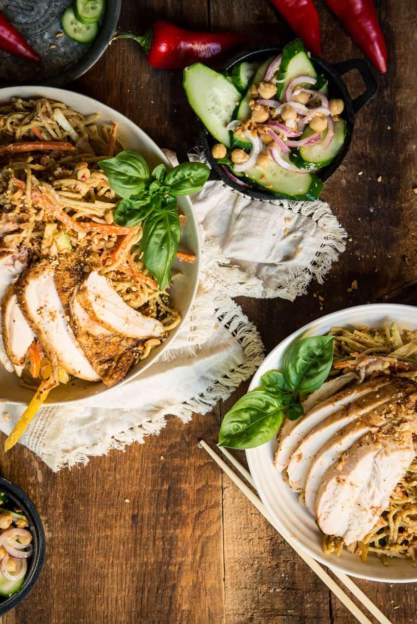 Thai peanut noodle salad | Kita Roberts GirlCarnivore.com