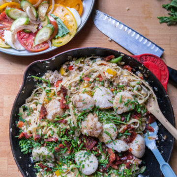 Summer Scallop and Crab Pasta | Kita Roberts GirlCarnivore.com