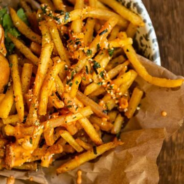 Every truck in Oahu has a spin on street fries. This beef tallow furikake fries recipe is my take on the best street food you can get and bring back to the Mainland.