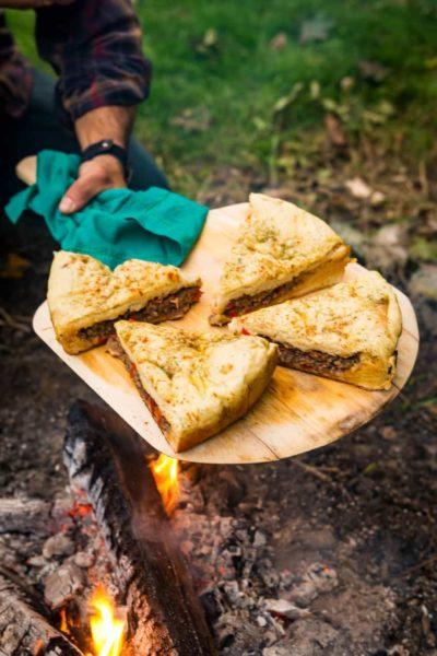Campfire Berber Pizza, aka Moroccan Lamb Pizza