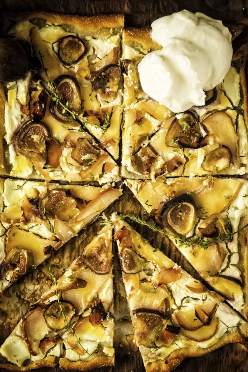 Savory Grilled Pizza with Fig and Pears | Kita Roberts GirlCarnivore.com