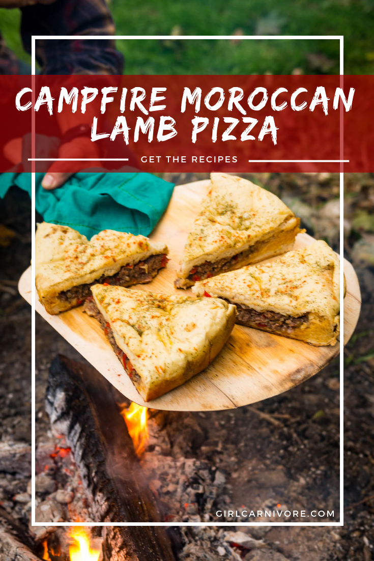 Campfire Berber Pizza, aka Moroccan Lamb Pizza Recipe by GirlCarnivore.com