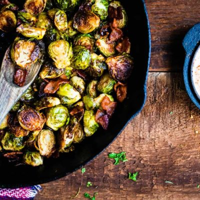 BBQ Smoked Brussels Sprouts with Bacon Recipe-1043