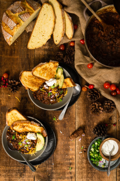 Easy Beef Chili Recipe on GirlCarnivore.com By Kita Roberts