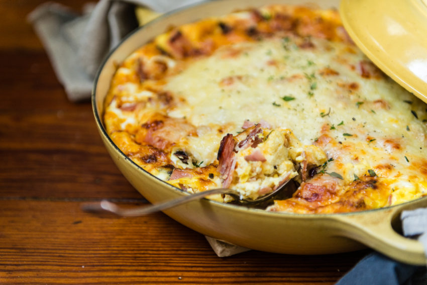 Overnight ham breakfast strata recipe