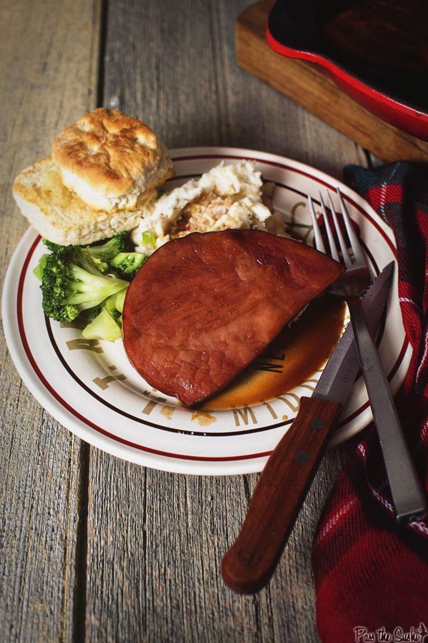 Southern Cola Ham Steak | Kita Roberts GirlCarnivore.com