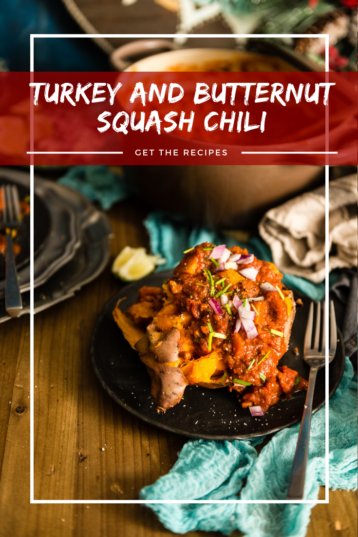 Whole 30 Approved Turkey and Butternut Squash Chili recipe on Girlcarnivore.com by Kita Roberts